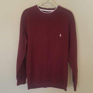 🌼Polo Ralph Lauren Long Burgundy Thermal Shirt, M